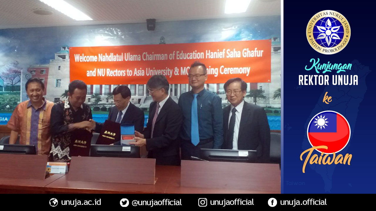 Handover of MoU at Asia University