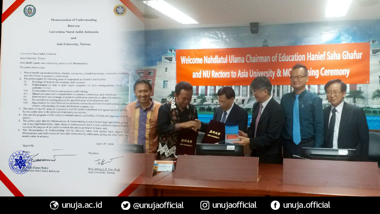 MoU with Taiwan: UNUJA Increases Global Competitiveness