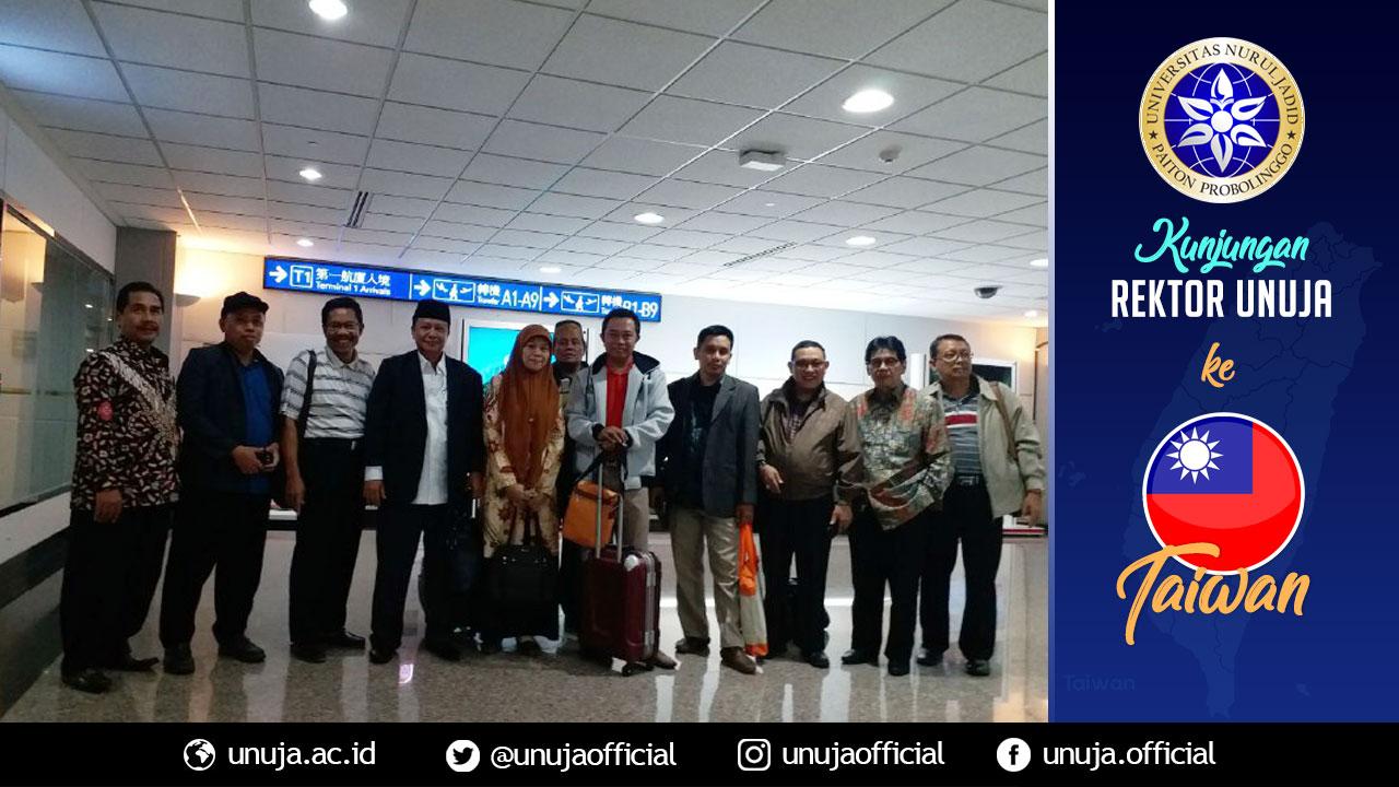 Rektor tiba di Bandara Tao Yuan Taipei