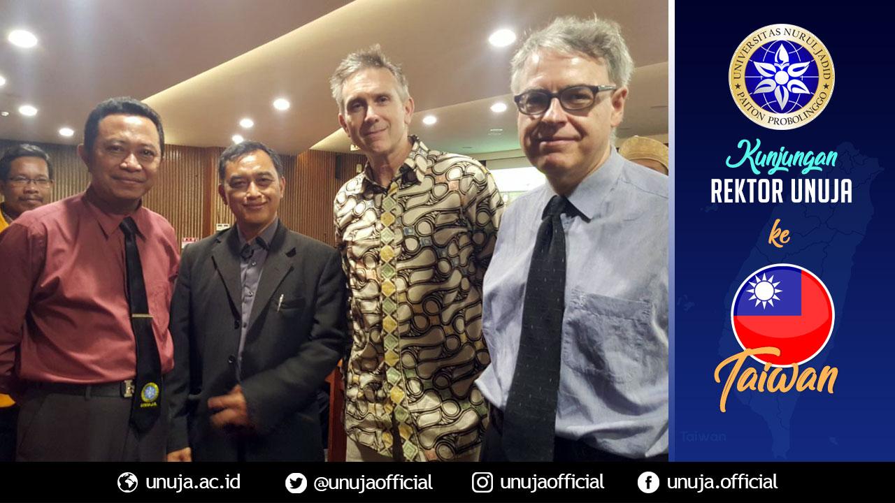 Rektor bersama Visiting Professor dari Belgia dan Amerika di Tunghai University