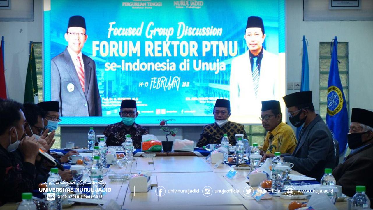 Suasana FGD Forum Rektor PTNU di UNUJA