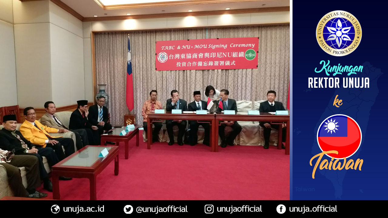 Pertemuan dengan beberapa DPR Taiwan dan Kamar Dagang untuk menjajaki Investasi Taiwan di Indonesia berbasis Perguruan Tinggi