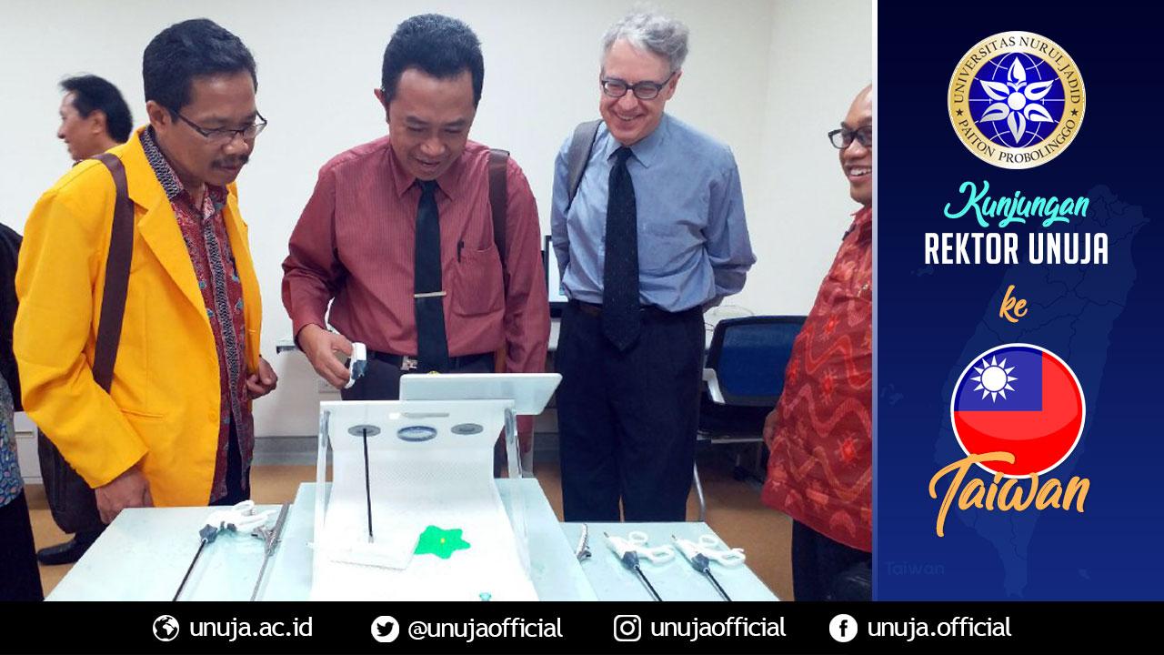Rektor berkunjung ke Rumah Sakit Veteran (Negeri) Taichung; melihat sarana pendidikan kedokteran.