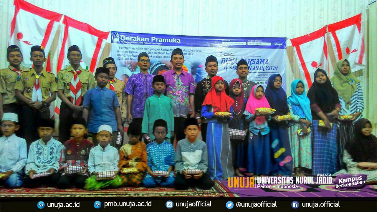 Gerakan Pramuka Mensyukuri Hadirnya Bulan Suci Ramadhan dengan Buka Bersama dan Santunan Anak Yatim