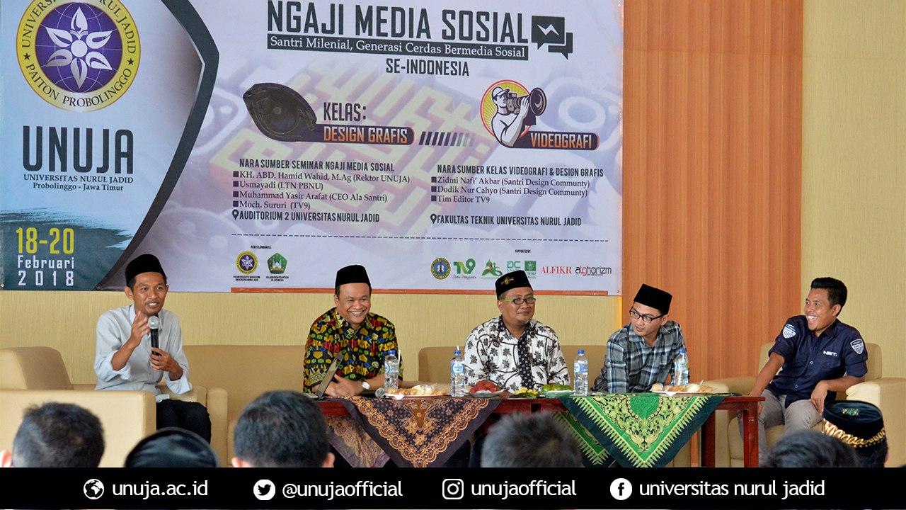 Ngaji Medsos Se-Indonesia di UNUJA