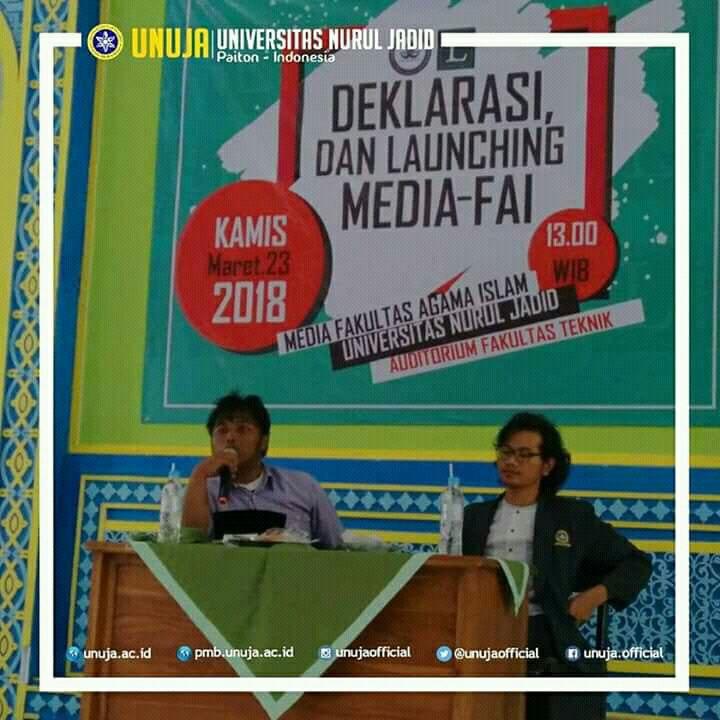 Tingkatkan Semangat Jurnalistik, BEM FAI UNUJA Resmikan Buletin Kampus