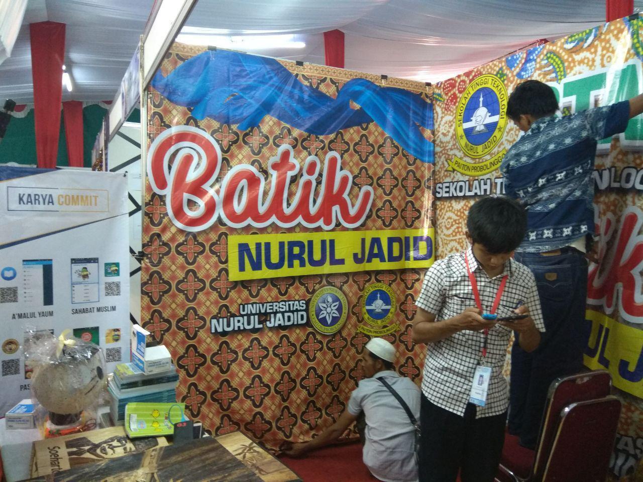 UNUJA Tampilkan Industri Kreatif Batik Techno Kaligrafi Khas Pesantren