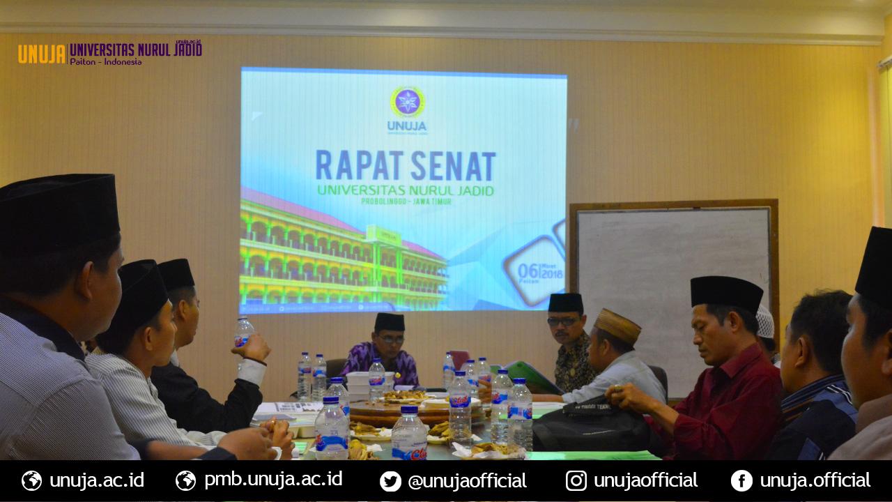UNUJA Gelar Rapat Senat